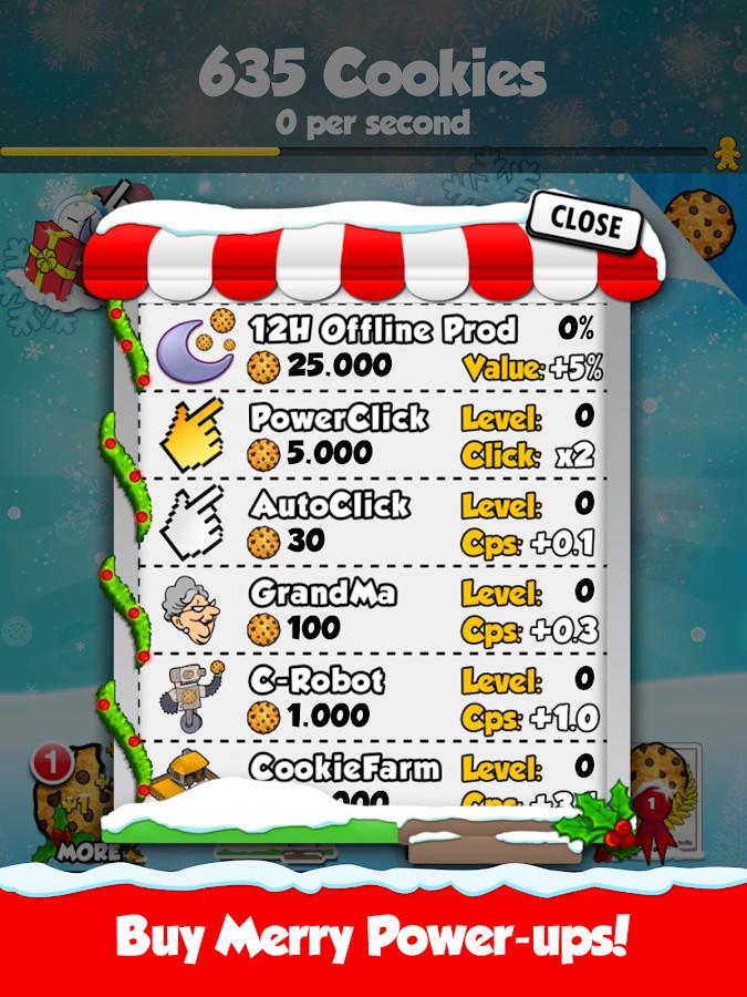 Cookie Clicker Christmas Cookies  Cookie ers™ Christmas screenshot