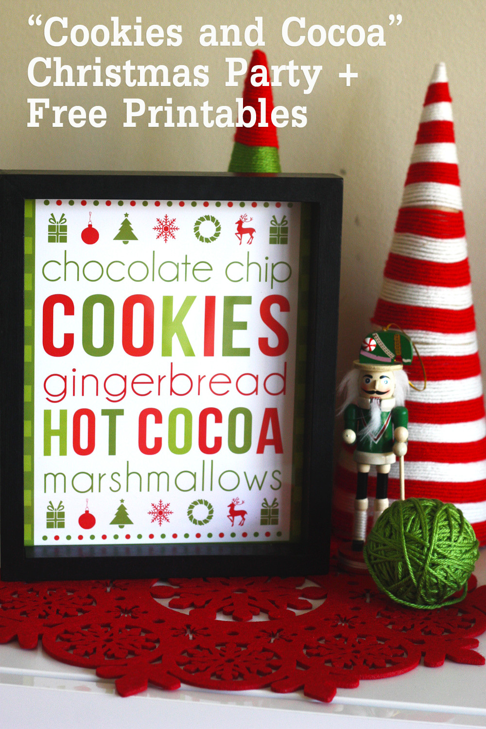 Cookies Christmas Party  Free Cookies & Cocoa Christmas Printables