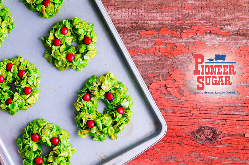 Cornflake Christmas Wreath Cookies With Corn Syrup  Cornflake Holiday Wreaths