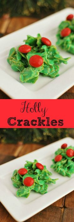 Cornflake Christmas Wreath Cookies With Corn Syrup  Holly wreath Corn flakes and Flakes on Pinterest