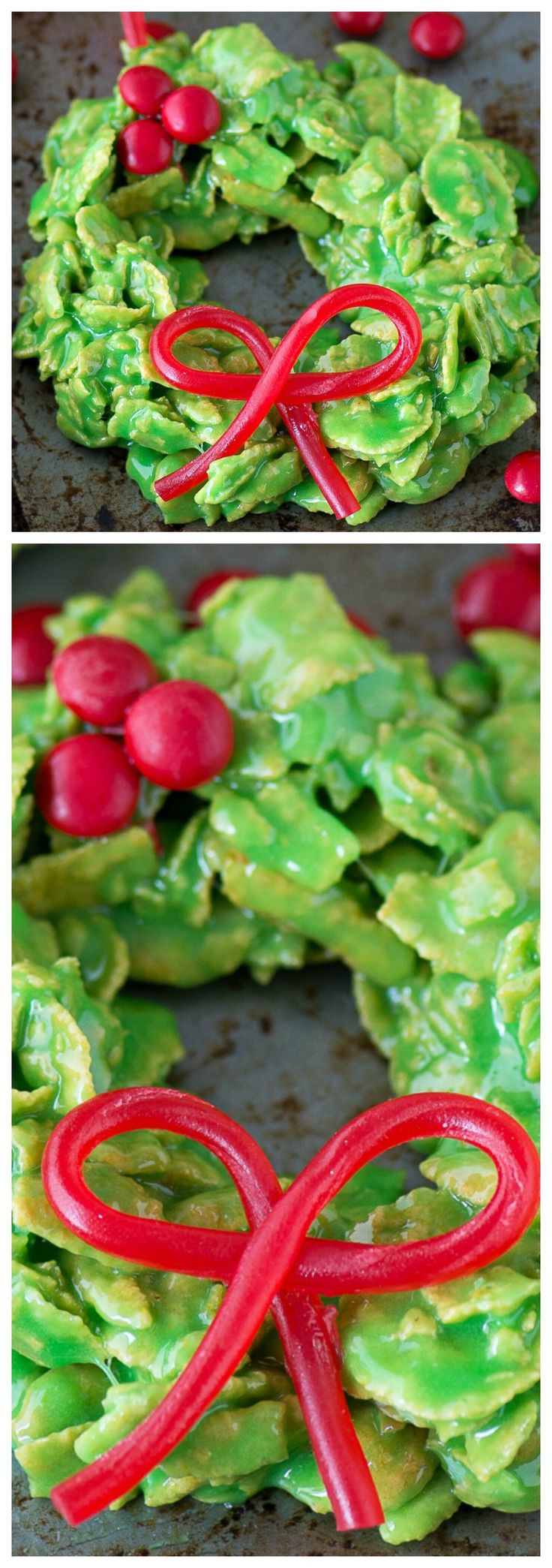 Cornflake Christmas Wreath Cookies With Corn Syrup  1000 ideas about Corn Flake Cookies on Pinterest