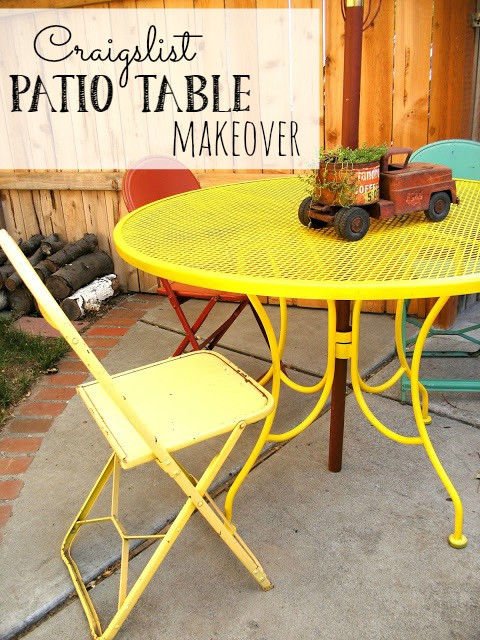 Craigslist Thanksgiving Dinner In A Can  Craigslist Patio Table Makeover Little Vintage Cottage