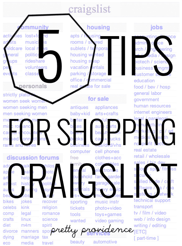 Craigslist Thanksgiving Dinner In A Can  5 Tips For Shopping Craigslist Pretty Providence