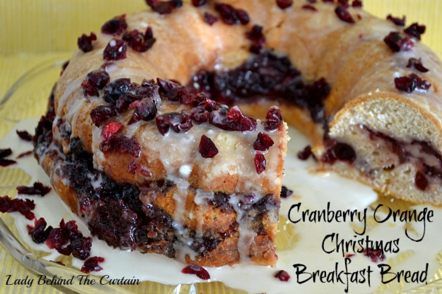 Cranberry Christmas Bread  Cranberry Orange Christmas Breakfast Bread Recipe