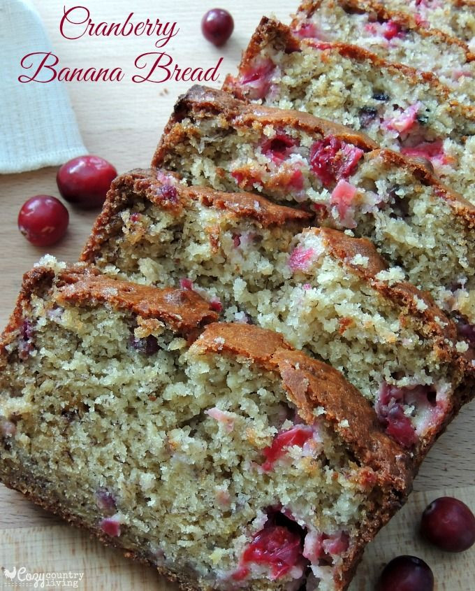 Cranberry Christmas Bread  150 best images about Overripe Banana Recipes on Pinterest