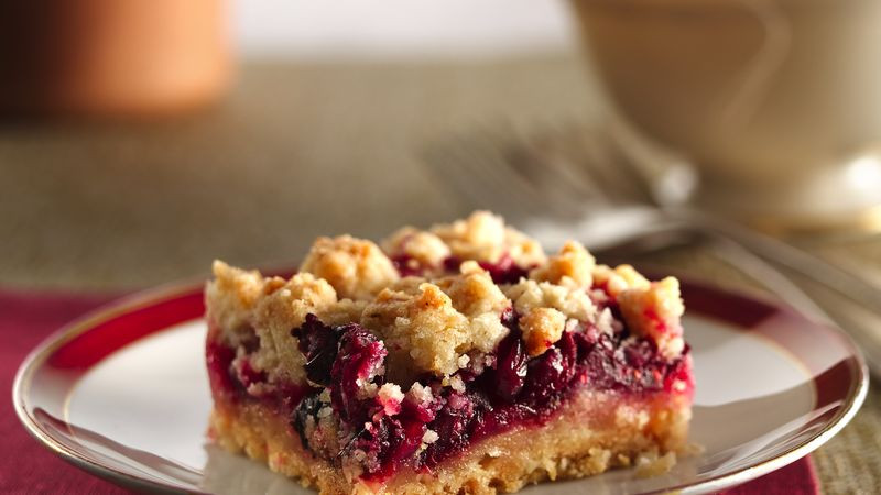 Cranberry Desserts For Thanksgiving  Cranberry Crumb Bars recipe from Betty Crocker