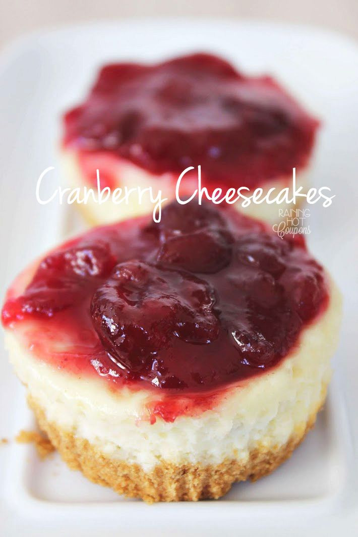 Cranberry Desserts For Thanksgiving  Recipe for cheesecake Mini cheesecakes and Thanksgiving