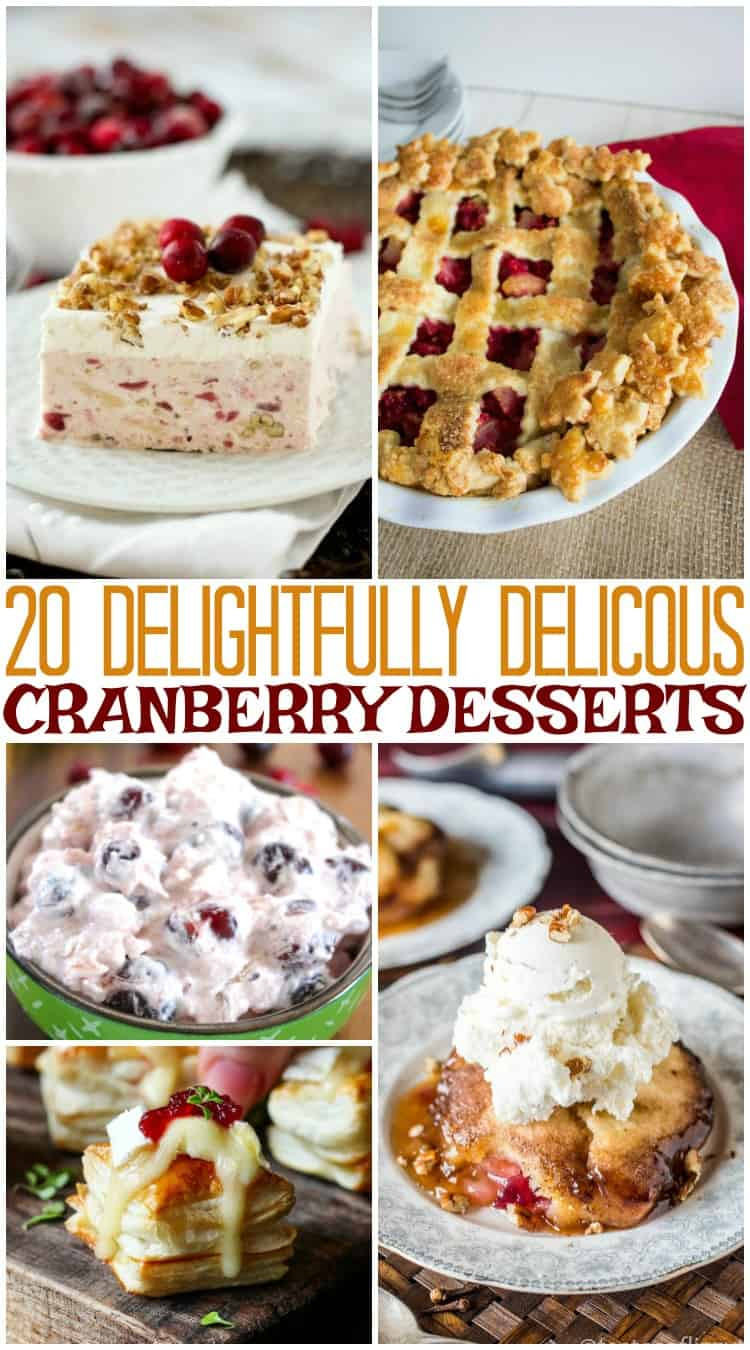 Cranberry Desserts For Thanksgiving  20 Delightfully Delicious Cranberry Desserts for Thanksgiving