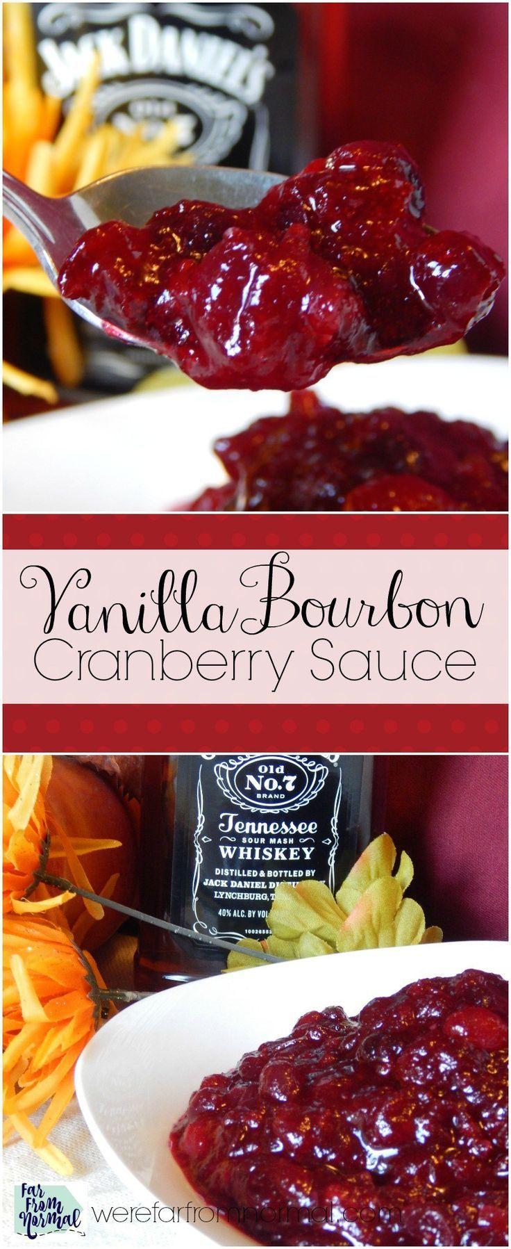Cranberry Desserts For Thanksgiving  Vanilla Bourbon Cranberry Sauce