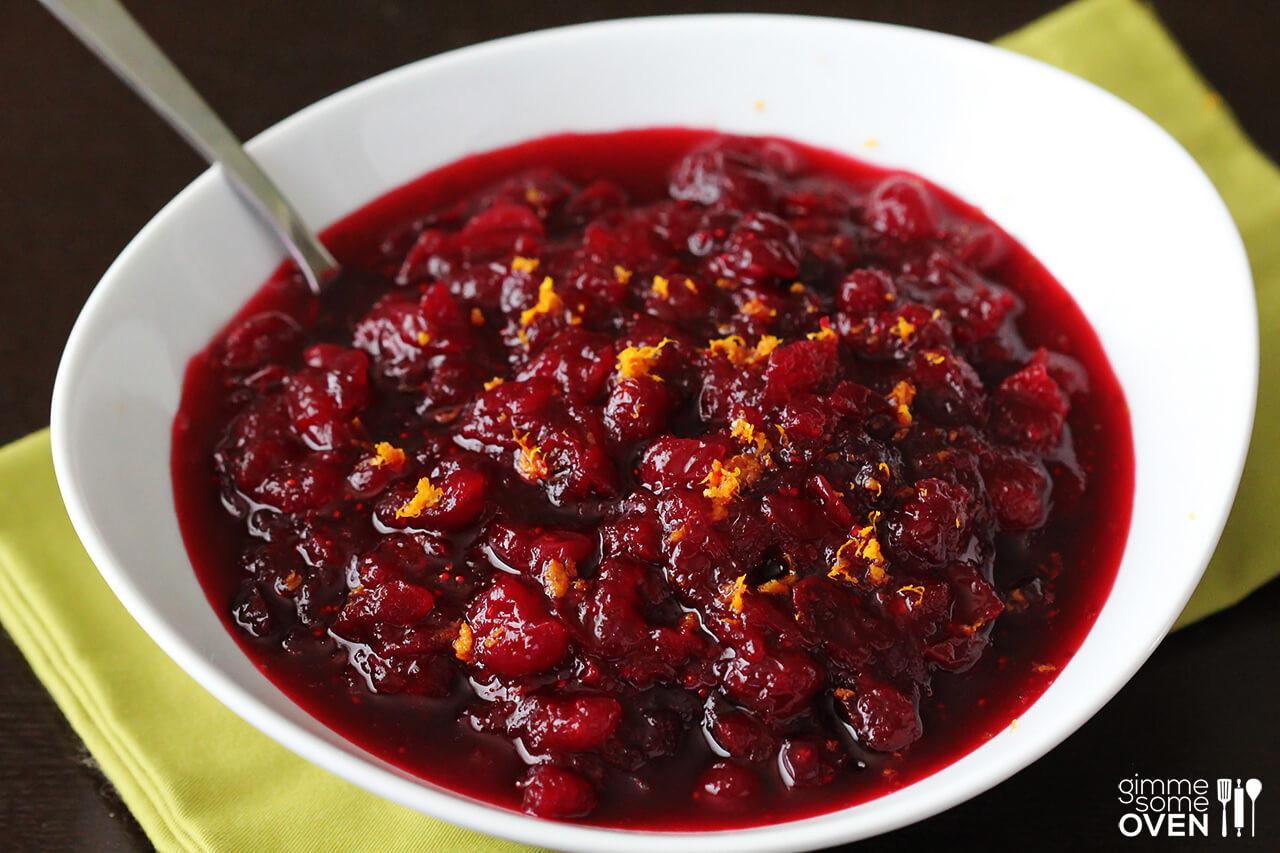 Cranberry Recipes For Thanksgiving  Orange Bourbon Cranberry Sauce