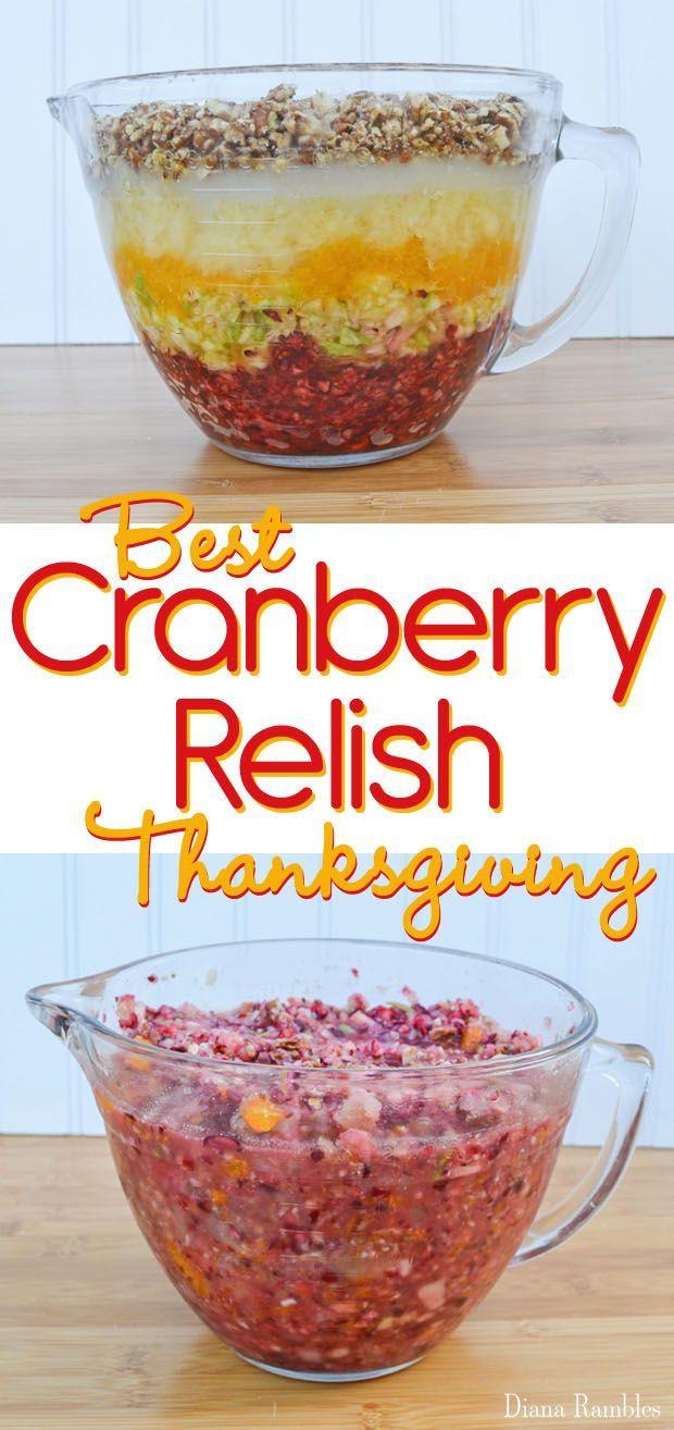 Cranberry Relish Recipes Thanksgiving  Best 25 Cranberry relish ideas on Pinterest