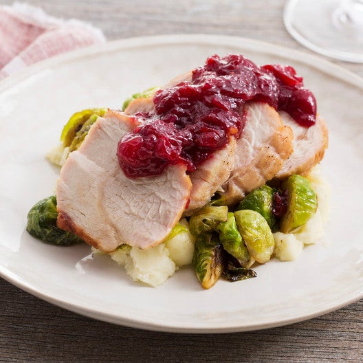 Cranberry Relish Recipes Thanksgiving  Recipe Roast Turkey & Cranberry Sauce with Brussels