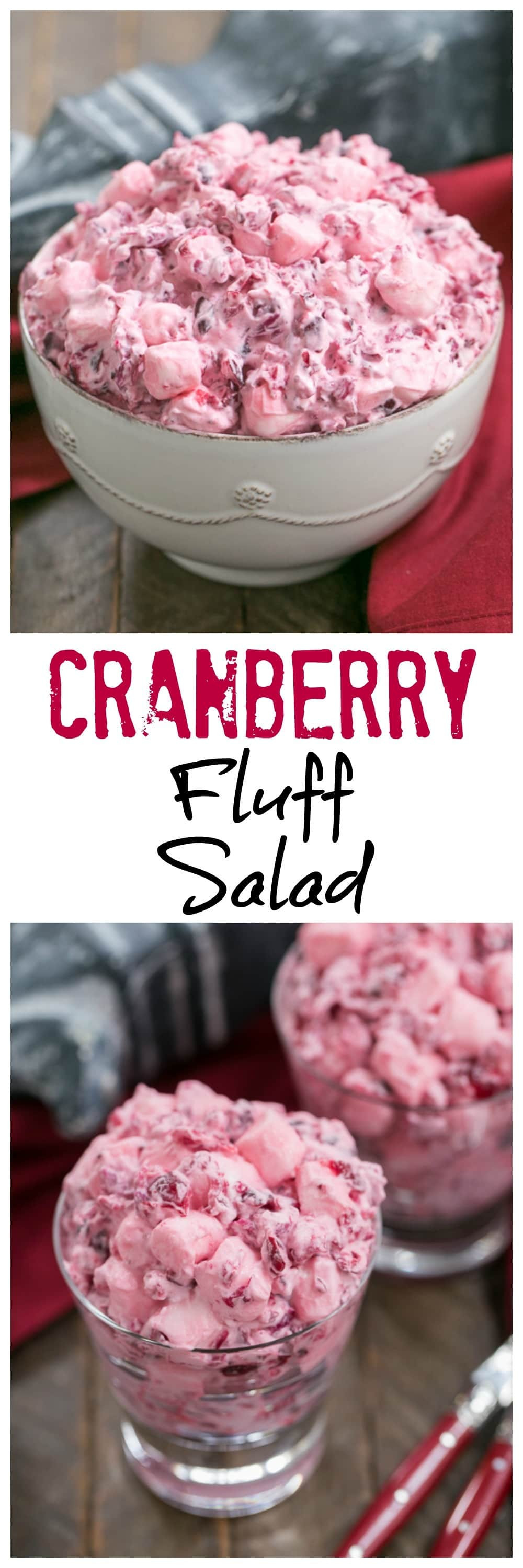 Cranberry Salad Recipes For Thanksgiving  Cranberry Fluff Salad SundaySupper That Skinny Chick