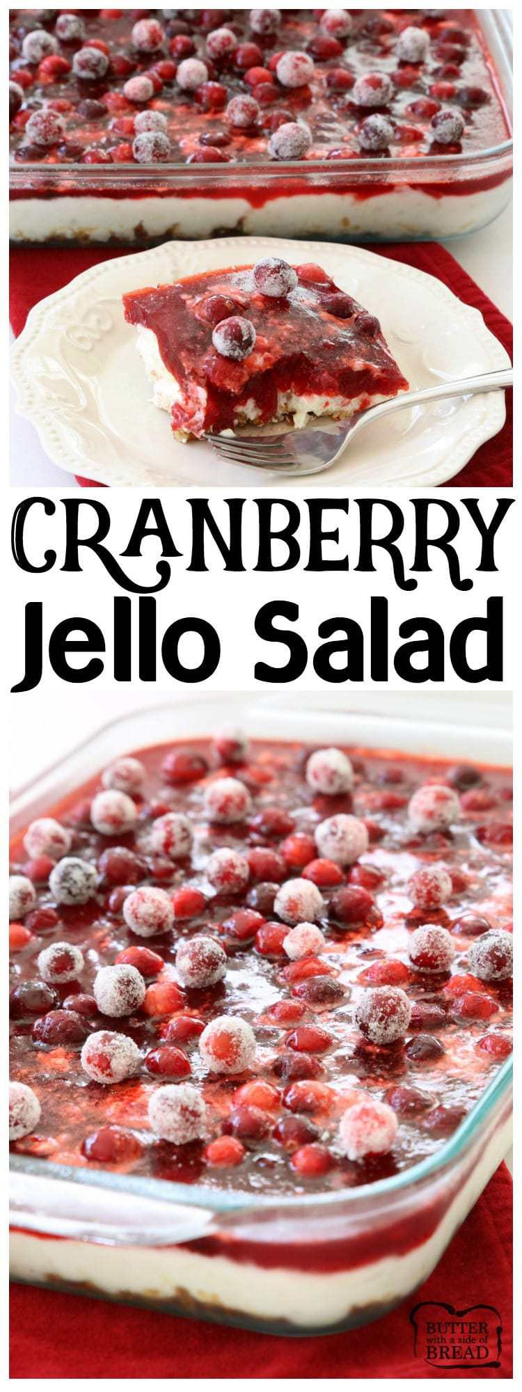 Cranberry Salad Recipes For Thanksgiving  CRANBERRY JELLO SALAD Butter with a Side of Bread