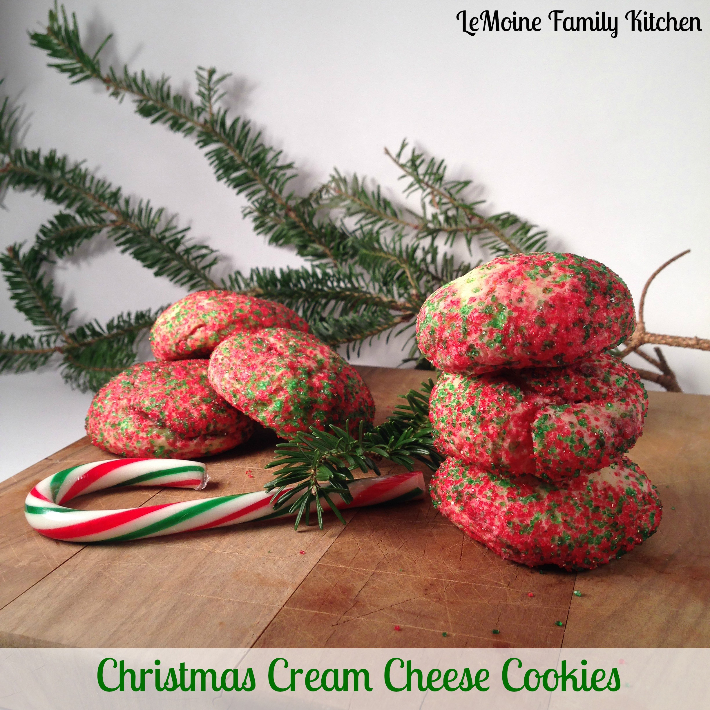 Cream Cheese Christmas Cookies  Christmas Cream Cheese Cookies LeMoine Family Kitchen