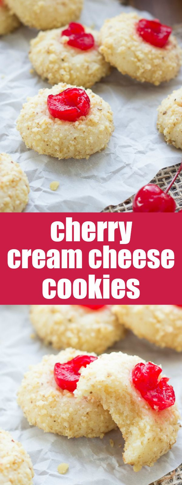 Cream Cheese Christmas Cookies  Cherry Cream Cheese Cookies Recipe