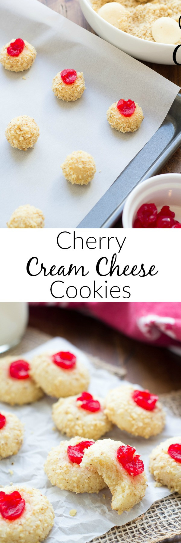 Cream Cheese Christmas Cookies  Cherry Cream Cheese Cookies Kristine s Kitchen