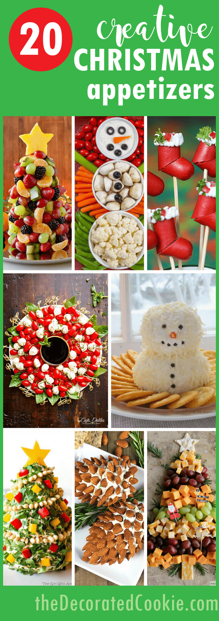 Creative Christmas Appetizers  20 creative Christmas appetizers The Decorated Cookie