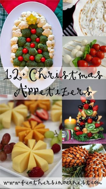 Creative Christmas Appetizers  Christmas party food Christmas parties and Parties food