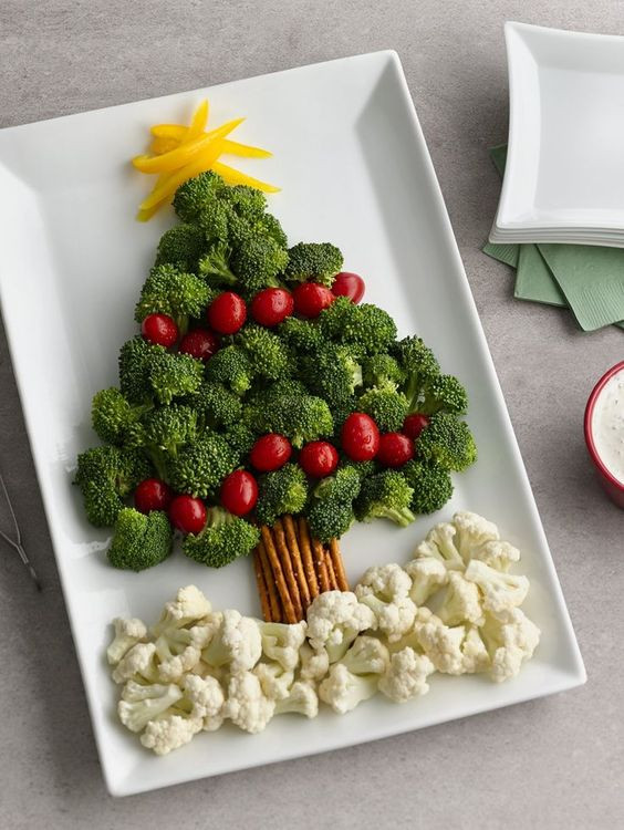 Creative Christmas Appetizers  Christmas Tree Ve able Platter Recipe