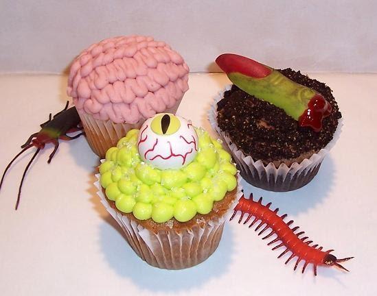Creepy Halloween Cupcakes  Creepy Halloween cupcakes