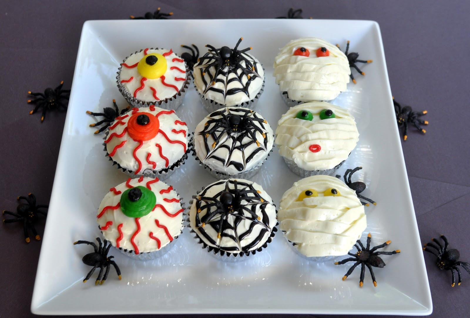 Creepy Halloween Cupcakes  Beki Cook s Cake Blog Halloween Party Treats
