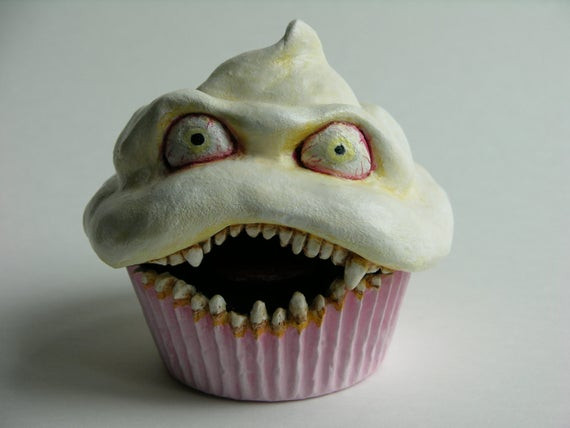 Creepy Halloween Cupcakes  Items similar to Vicious Cupcake No 17 Summer Solstice