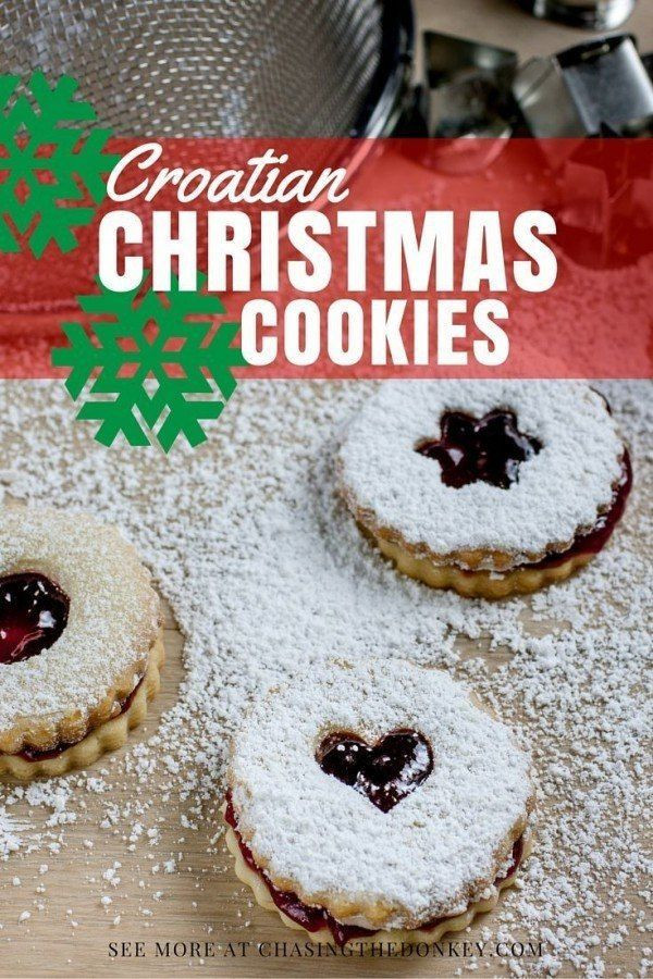 Croatian Christmas Cookies  100 Croatian recipes on Pinterest