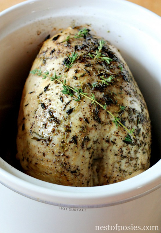 Crock Pot Thanksgiving Turkey  Slow Cooker Turkey Breast