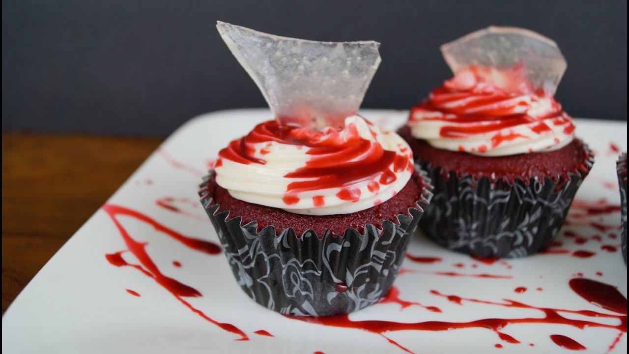 Cupcakes De Halloween  Cupcakes Pastelitos Sangrientos Para Halloween ¡Auch