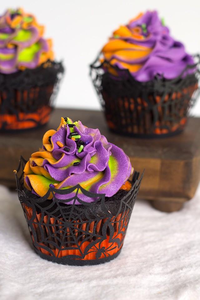 Cupcakes De Halloween  Halloween Swirled Cupcakes