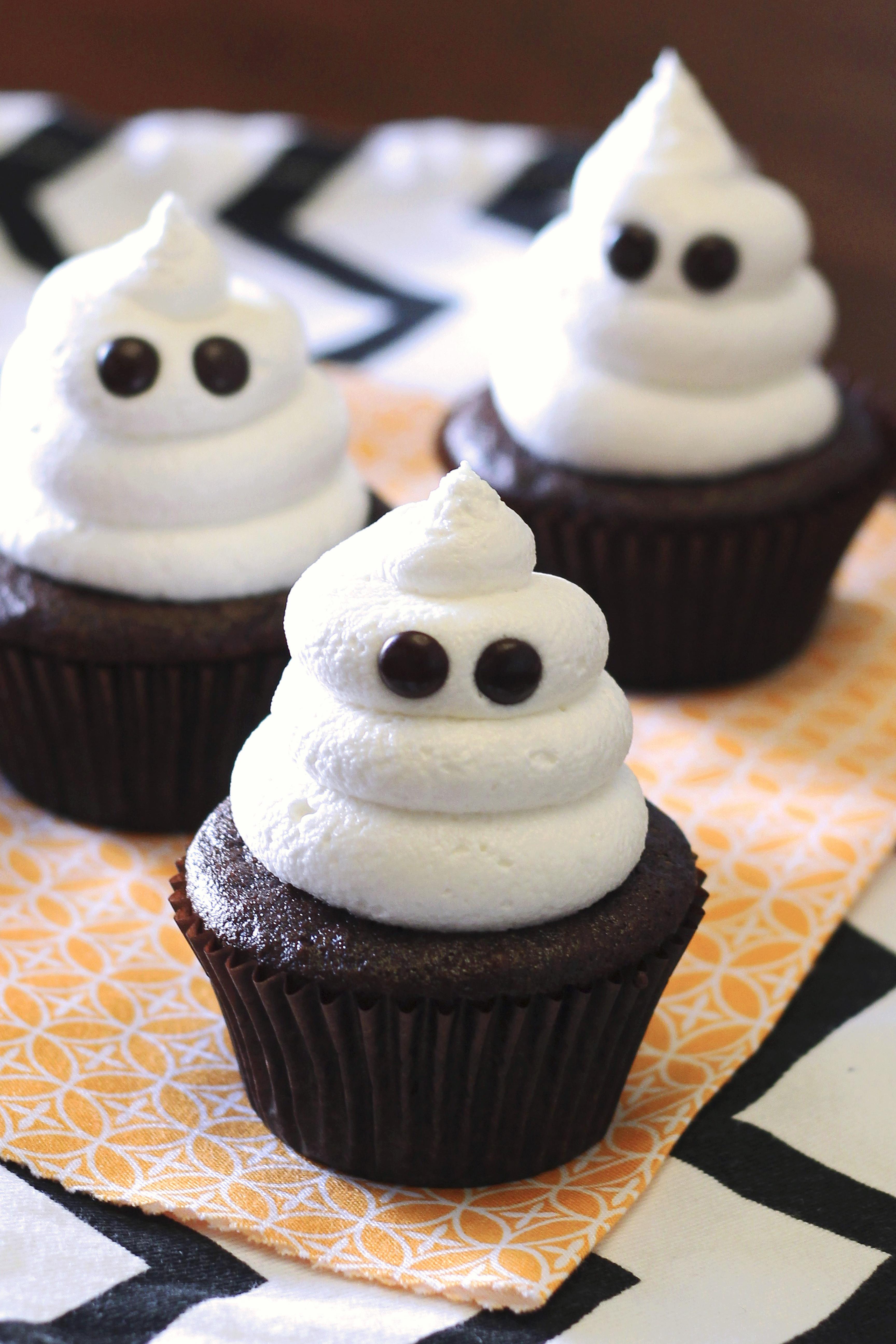 Cupcakes De Halloween  gluten free vegan ghost cupcakes Sarah Bakes Gluten Free