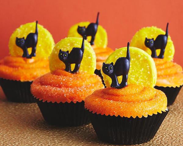 Cupcakes De Halloween  Black Cat Cupcakes