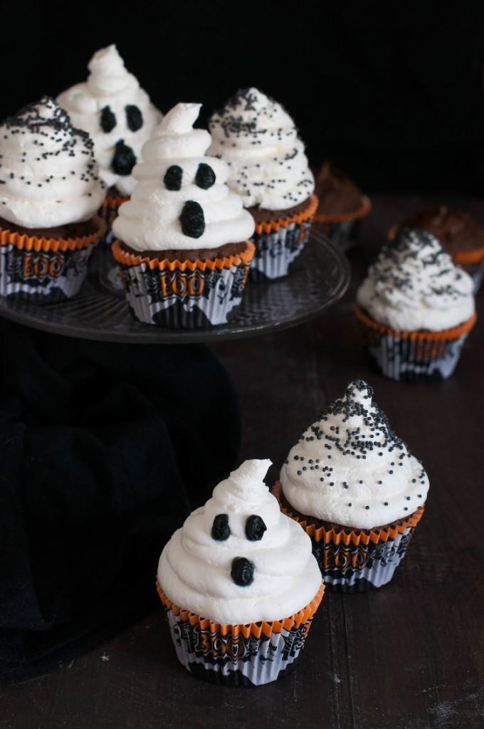 Cupcakes De Halloween  Cupcakes de Cola Cao para Halloween