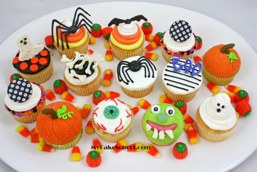 Cupcakes De Halloween  Halloween Cupcake Tutorial My Cake School