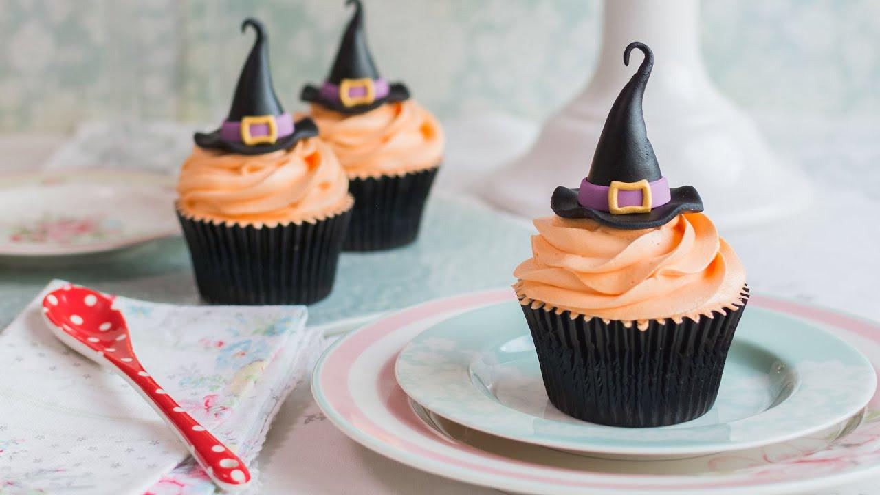 Cupcakes Para Halloween  Cupcakes para Halloween sombrero de bruja Receta