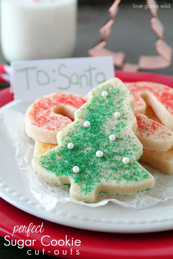 Cut Out Christmas Cookies  The BEST recipe I ve ever found for Sugar Cookie Cut outs