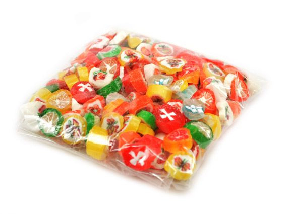 Cut Rock Christmas Candy  Christmas Cut Rock Stocking Stuffer Candy Bags 6 Box