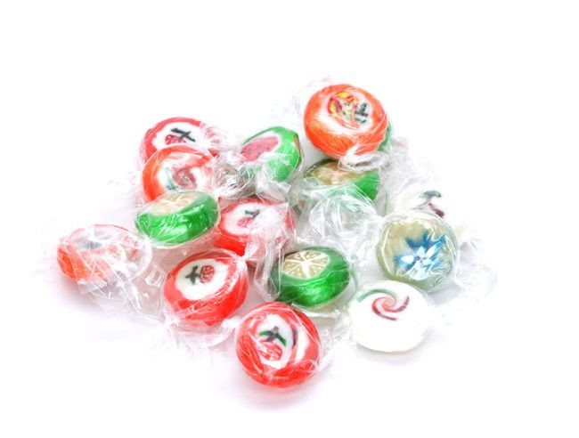 Cut Rock Christmas Candy  Wrapped Cut Rock Candy 5 lb Candy Favorites