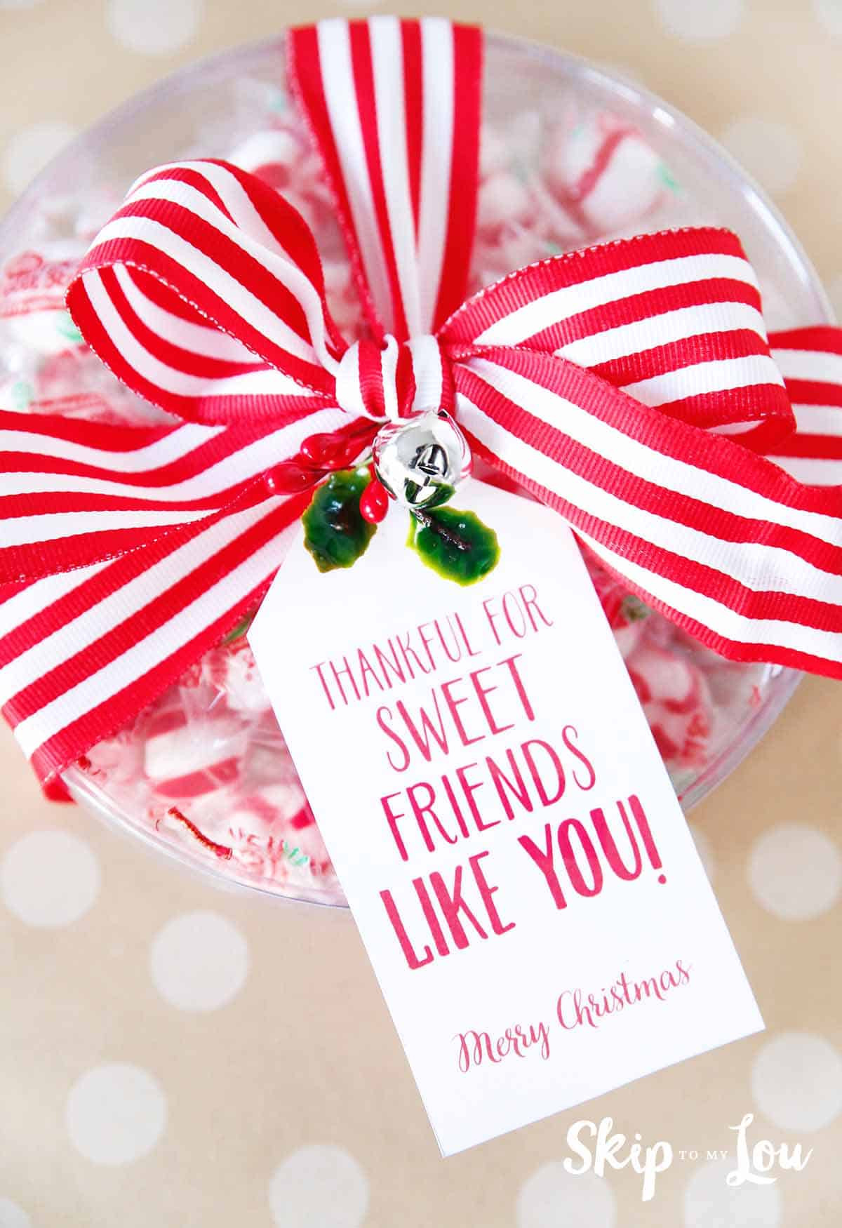 Cute Christmas Candy  25 Easy Christmas Gift Ideas that are super cute