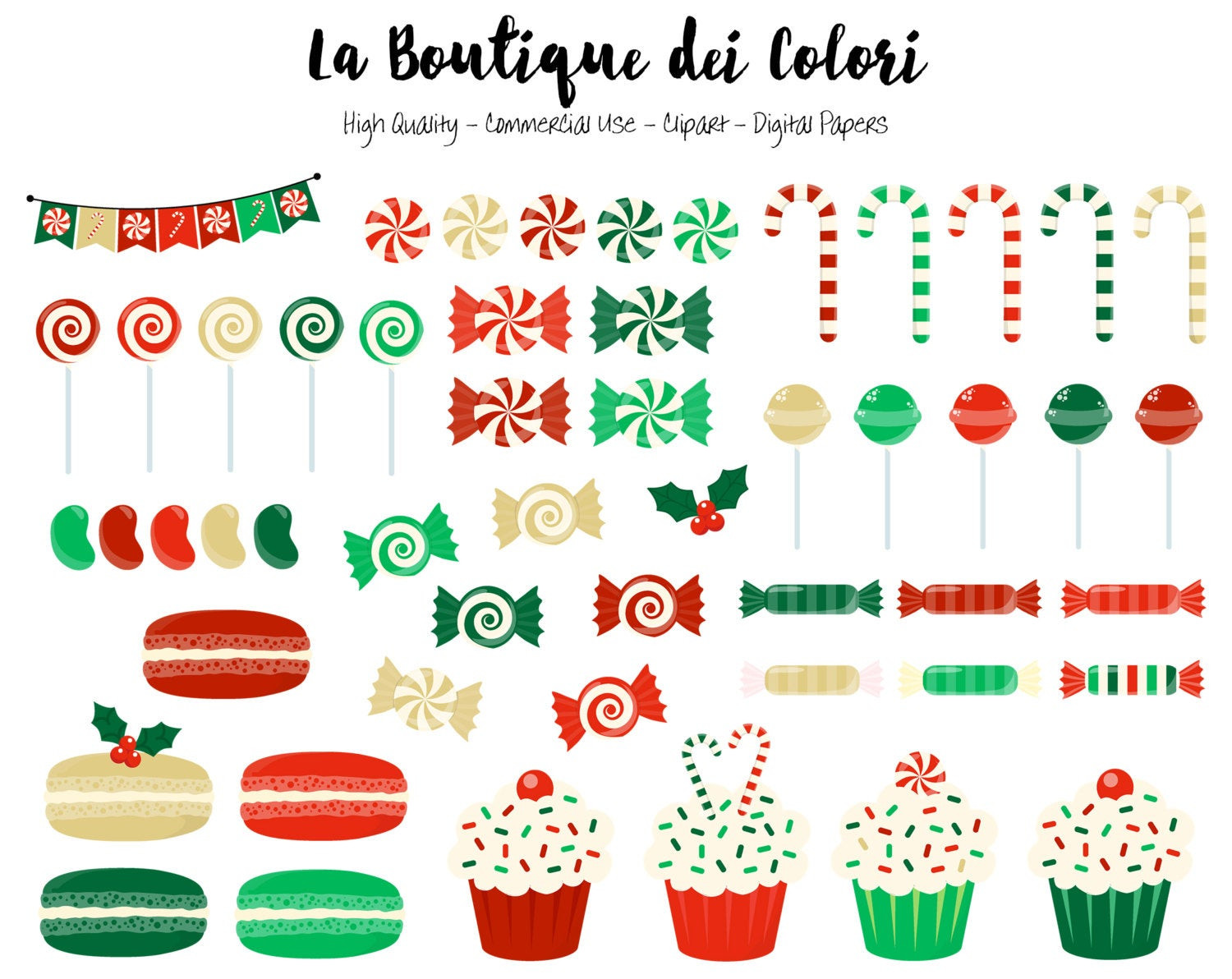 Cute Christmas Candy  Christmas Candy Clipart Cute Digital Graphics PNG xmas