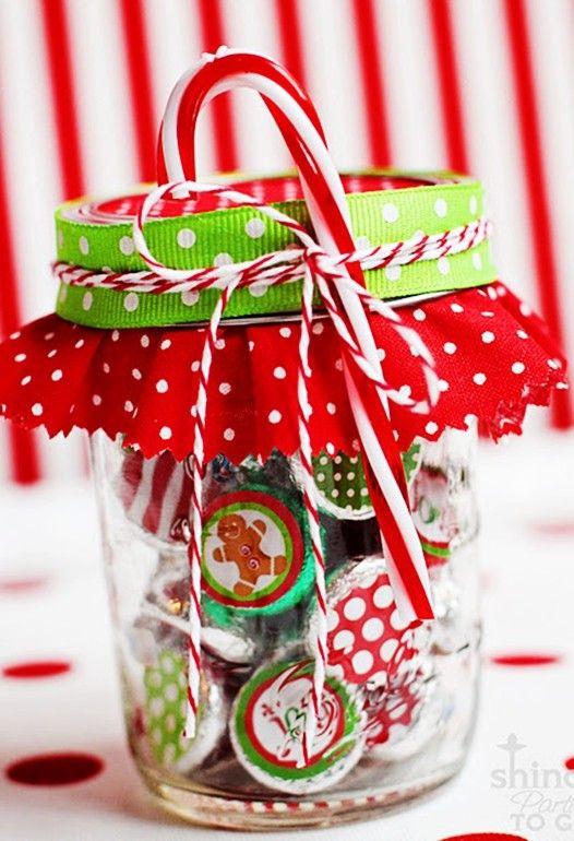Cute Christmas Candy Ideas  cute 2014 Christmas candy glass 2014 Christmas hersheys