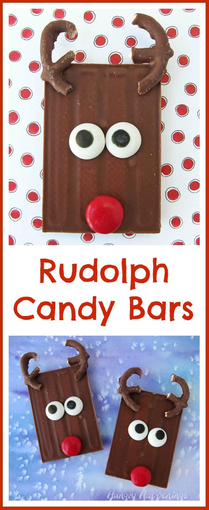 Cute Christmas Candy  Cute Christmas Treats Rudolph Candy Bars
