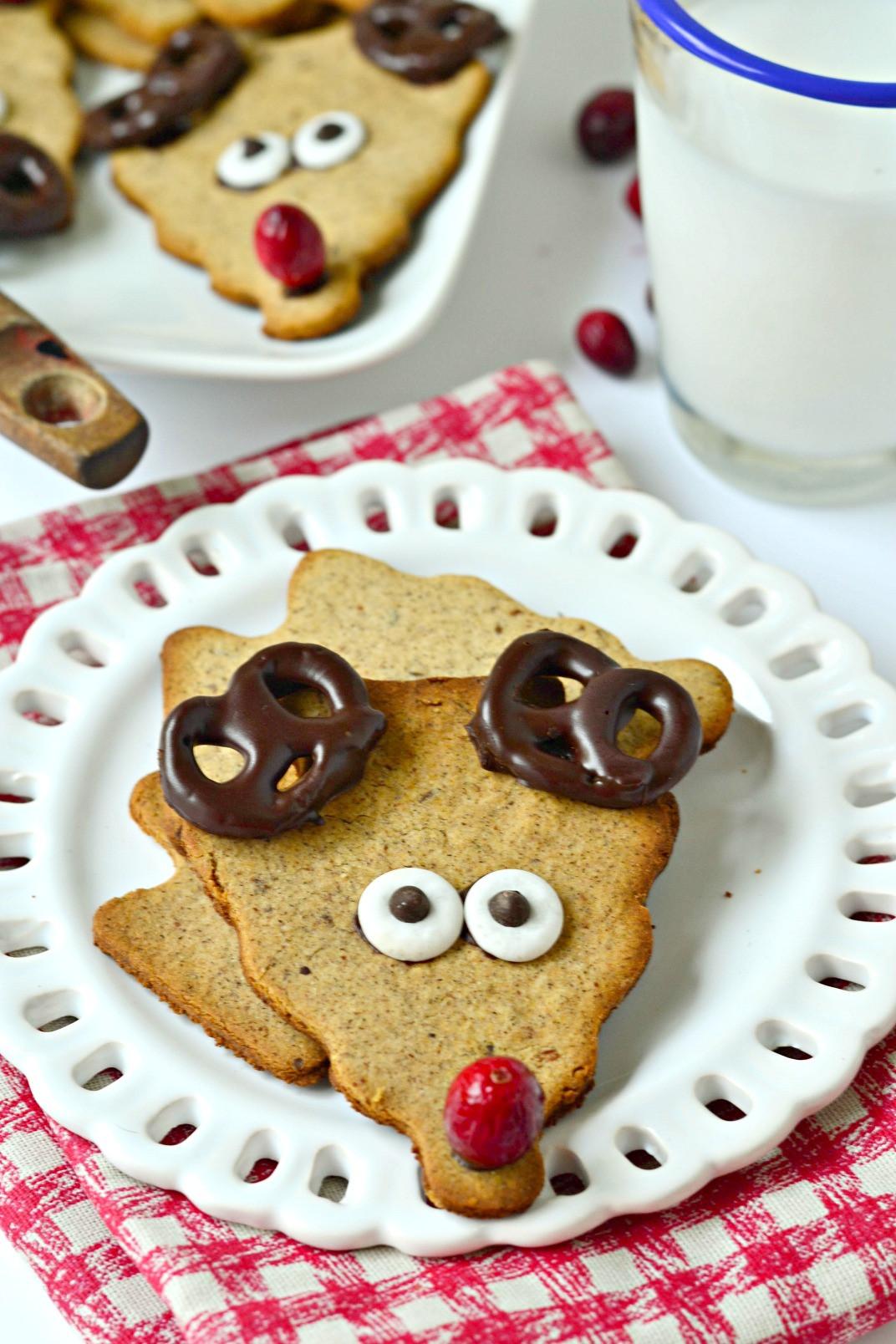 Cute Christmas Cookies Recipes  Healthy Reindeer Cookies Fork and Beans