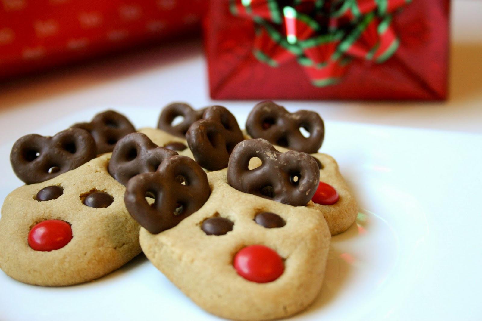 Cute Easy Christmas Cookies  Reindeer Cookies Recipe