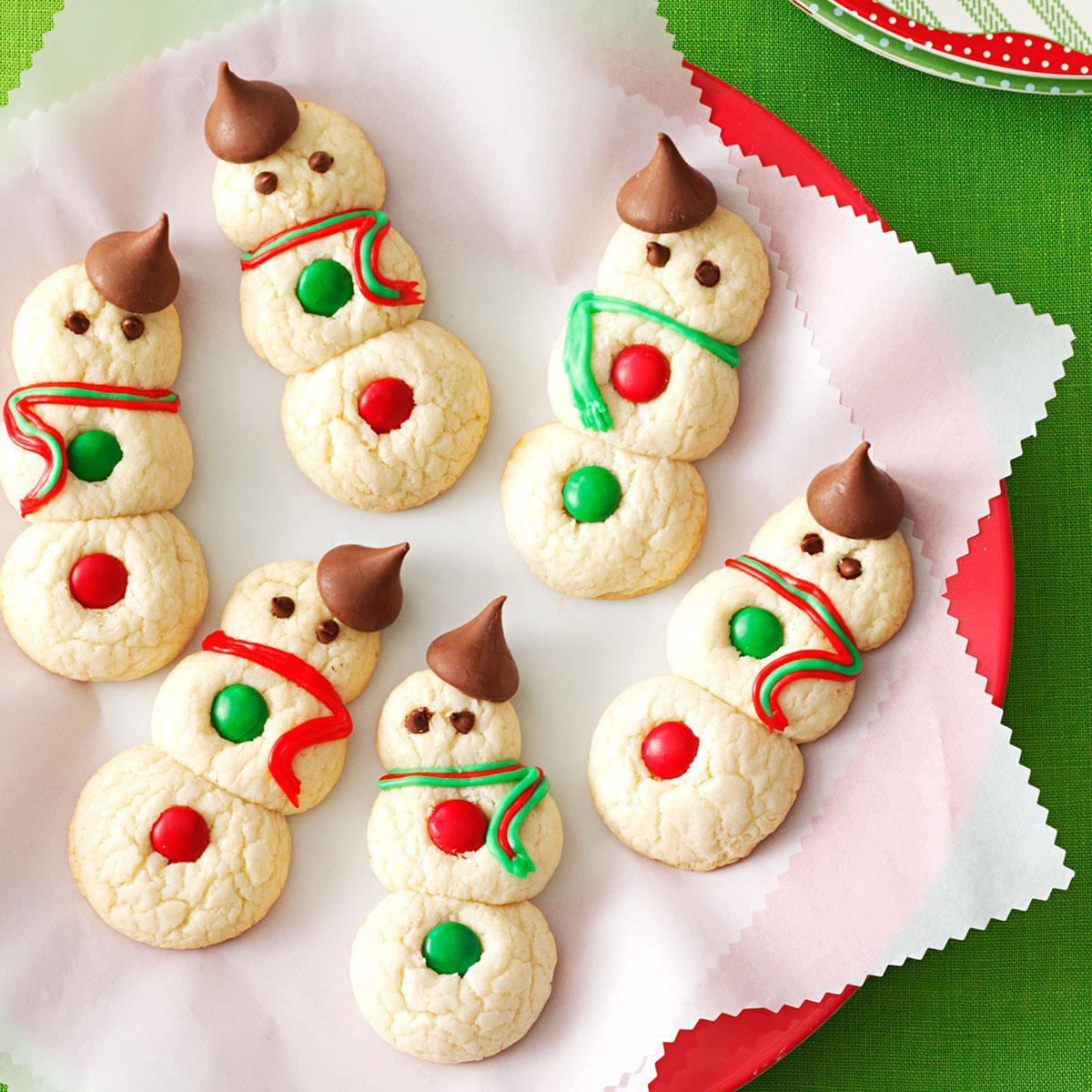 Cute Easy Christmas Cookies  Snowman Cookies Recipe
