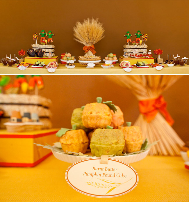 Cute Fall Desserts  A Thanksgiving Dessert Table by Amy Atlas and more
