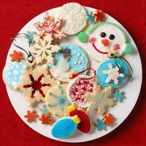 Decorated Christmas Cookies Recipes  158 best images about Holidays & Events on Pinterest