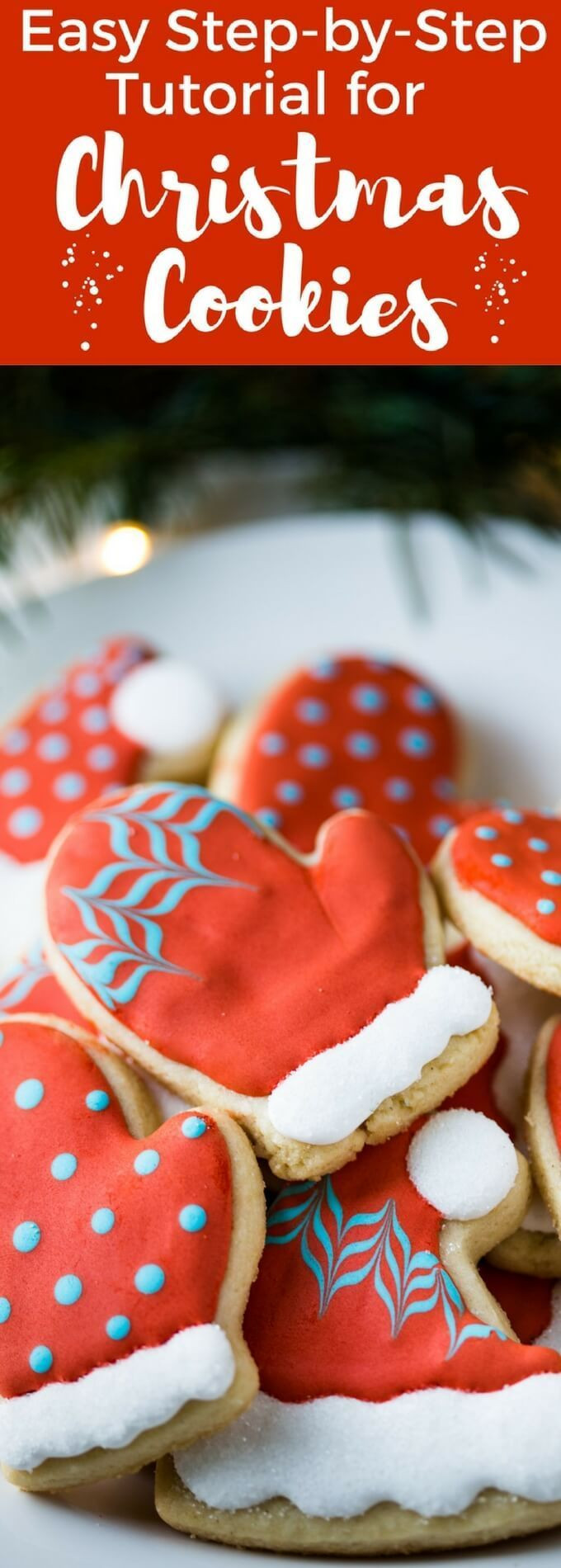 Decorated Christmas Cookies Recipes  An easy Christmas Cookie Decorating Tutorial for Hat and