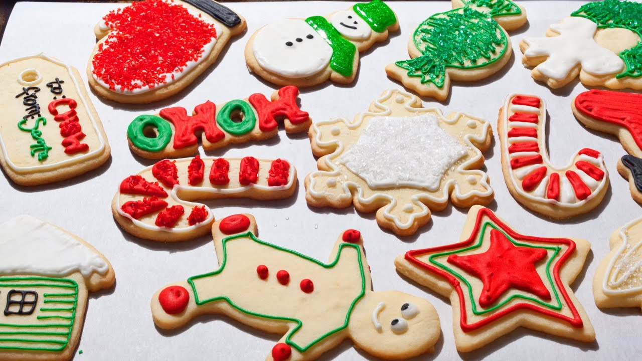 Decorated Christmas Sugar Cookies  How to Make Easy Christmas Sugar Cookies The Easiest Way